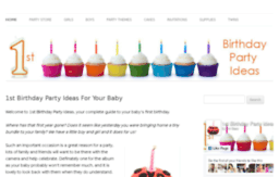 1st Birthday Party Ideas Website