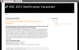apdsc2013notificationvacancies.apdsc2012.in