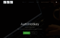 Autohotkey com website  AutoHotkey