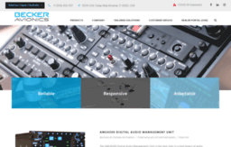 Beckerusa com website  BECKER AVIONICS: Communication