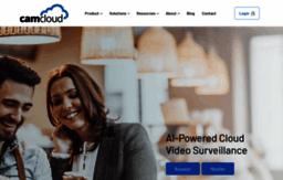 Camcloud com website  Cloud Video Monitoring & Video