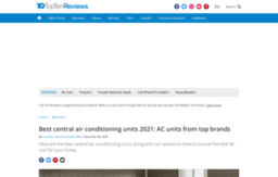 Central Air Conditioner Ratings And Reviews >> Central Air Conditioning Units Review Toptenreviews Com