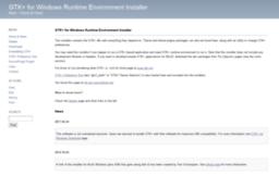 Gtk-win sourceforge net website  GTK+ for Windows Runtime