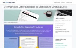 Industrymyperfectcoverletter Website Cover Letter Examples For Your Job Search