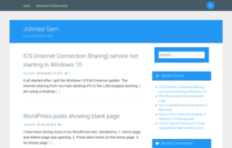 Johnleesam com website  Johnlee Sam – Personal Website | Blog