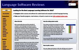 Languagesoftware net website  Language Software Reviews