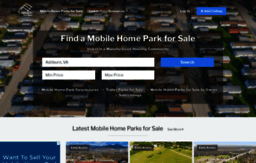 Mobilehomeparkstore com website  Mobile Home Parks for Sale