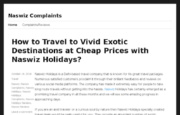 naswizholidayscomplaint.co.in