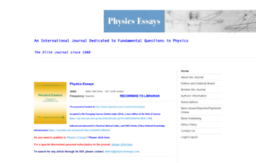 physicsessays.org