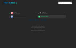 Pinoytopsites com website  Pinoy Top Site