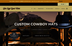 Thelastbestwest.com website. The Last Best West Cowboy Hats and Leather. f2d3158f80c
