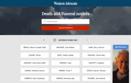 Tributes westernadvocate com au website  Bathurst Western Advocate