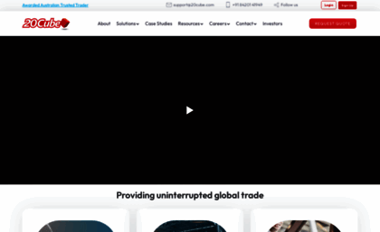 20cube com website  Freight Forwarder & Logistics Company with