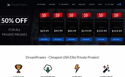 50kproxies com website  Cheapest USA Elite Private Proxies