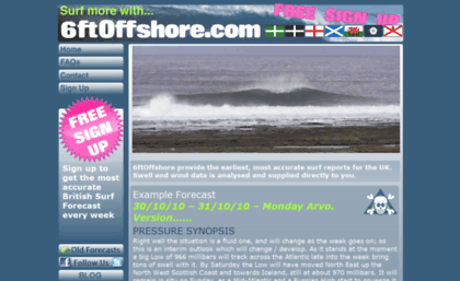 6ftoffshore com website  6ftOffshore - accurate swell and