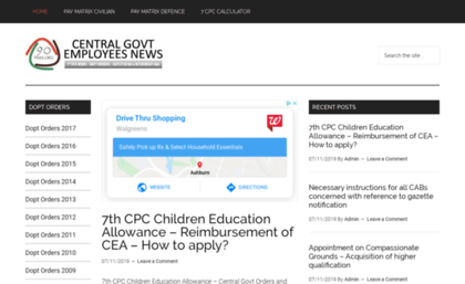90paisa org website  CENTRAL GOVERNMENT EMPLOYEES NEWS – 7th Pay