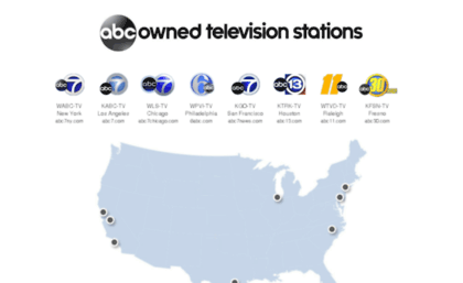 Abconline com website  ABC Owned Television Stations