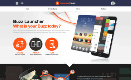 About homepackbuzz com website  Here's Buzz Launcher and
