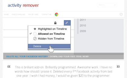 Activityremover website activity remover delete facebook activityremover ccuart Choice Image