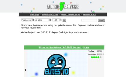agarioservers io website agario servers find an agar io private