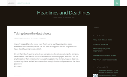 Alisongow com website  Headlines and Deadlines | Thoughts on