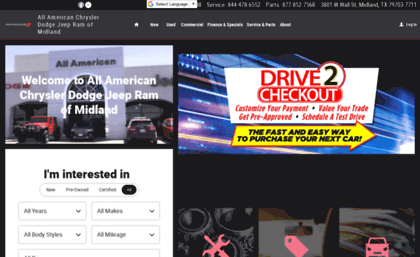 All American Dodge Midland >> Allamericandodgemidland Com Website All American Chrysler