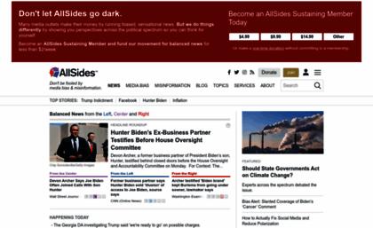website. AllSides | Balanced news via media