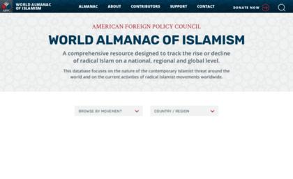 Almanac afpc org website  World Almanac of Islamism | The