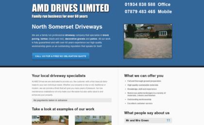 Amddrives co uk website  AMD Drives - North Somerset's
