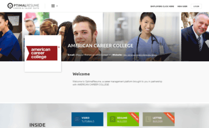 american career college resumes