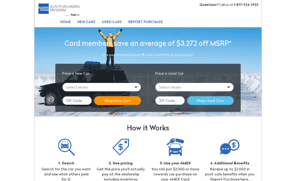 American Express Car Buying >> Amexnetwork Zag Com Website American Express Car Buying Home Page