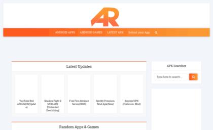 Apkreal com website  MOD APK & Android Games/Apps APKs Free Download