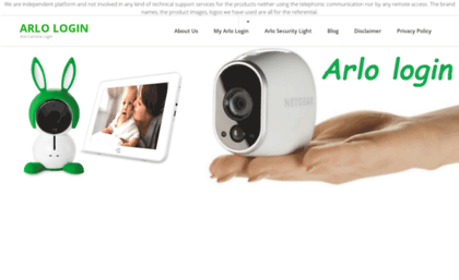 arlo login page