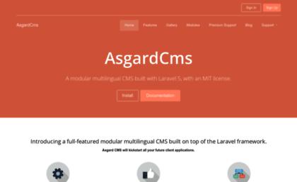 Asgardcms com website  AsgardCms - A laravel CMS that's