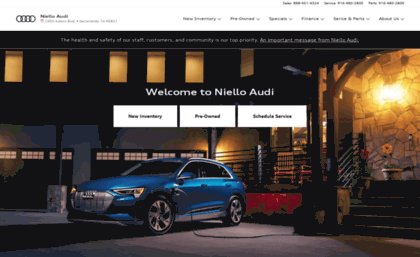 Audiniellocom Website Niello Audi New Audi Dealership In - Niello audi