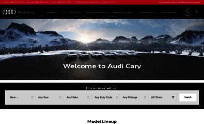 Audicarycom Website Cary NC Audi Dealer New Used Cars SUVs - Audi cary