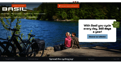 Basil.com website. Basil Bicycle bags   Baskets - Spread the cycling ... ea00e093982c4