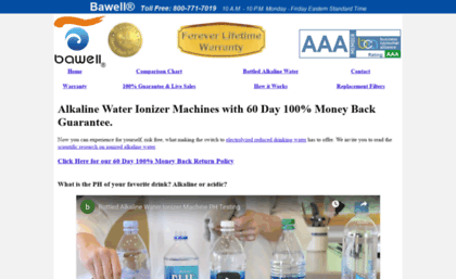 Bawellwaterionizers.com website. Water Ionizer Alkalizer Machine ...