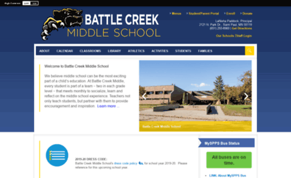 Spps Calendar.Bcms Spps Org Website Battle Creek Middle School Homepage