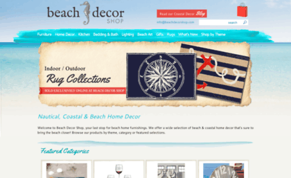 Beachdecorshop Com Website Beach Decor Shop Nautical Coastal