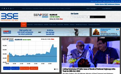 Beta Bseindia Com Website Bse Formerly Bombay Stock Exchange Live Stock Market Updates For S P Bse Sen