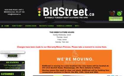 Bidstreet ca website  BidStreet ca - Online Auction & Liquidation
