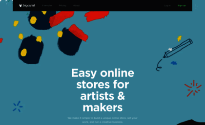 6610f0ec58aa Bigcartel.com website. Big Cartel - Easy Online Stores for Artists ...