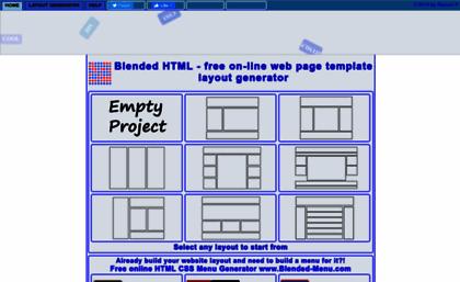 Blended website free html css div layout - Html div line ...