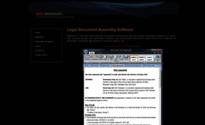 Blitzdoccom Website Legal Document Automation Software - Legal document assembly