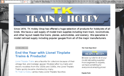 Blog tandkhobby com website  The Train Stops Here!