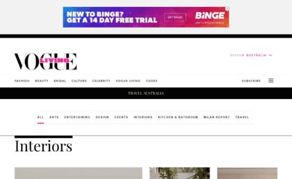 Blog.vogueliving.com.au website. Vogue Living - Vogue Australia. 5577eb9d3