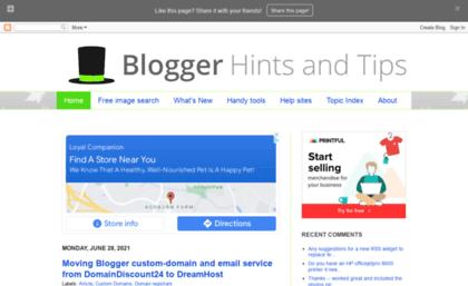 Blogger-hints-and-tips blogspot sg website  Blogger-Hints