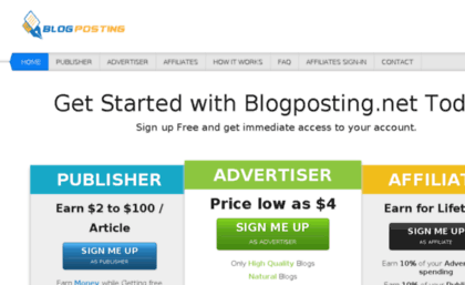 Blogposting net website  Blogposting net, guest posting