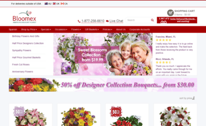 Bloomexusa Com Website Flowers And Gift Baskets Florist